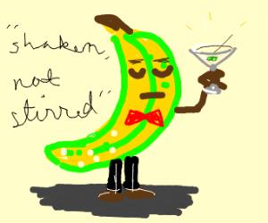 banana man has a martini