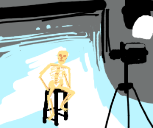 skeleton model has picture taken