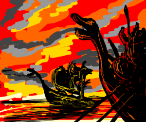vikings on the open sea