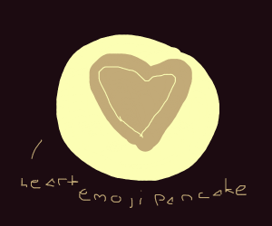 A heart emoji pancake.  Aww!