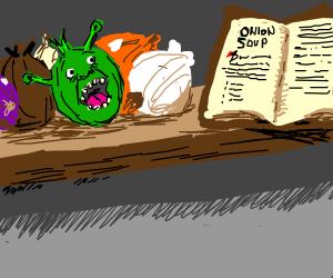 Shrek shaped like an onion