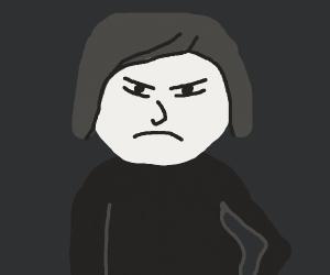 Woman is not happy.