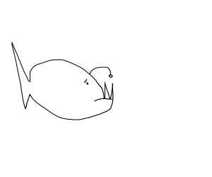 A disappointed angler fish