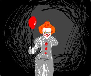 It clown w balloon