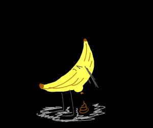 A banana turd