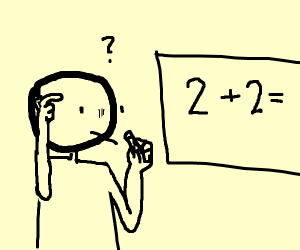 man doesnt know 2+2