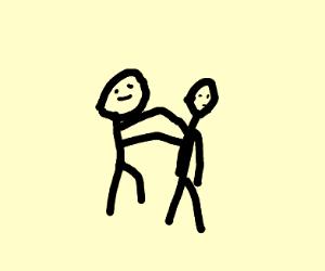 person giving friend a nice shoulder massage