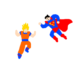 Goku and superman