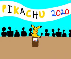 Pikachu is the POTUS