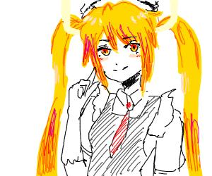 Anime girl with... horns?