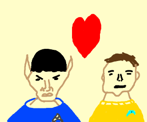 Spock loves Jim Kirk