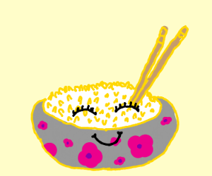 Happy bowl of rice