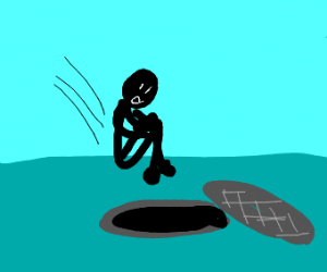 Man jumps into sewer