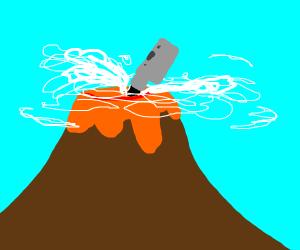 OK we get it volcano, you vape.