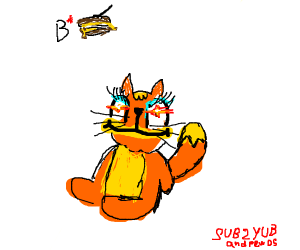 garfield with a makeup