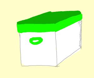 White and green box