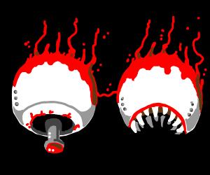 spazmatism and Retinazer [Terraria]