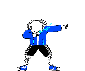 sans undertale doing a dab - Drawception