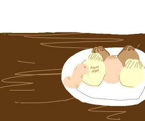 worm boye noms on dumpling
