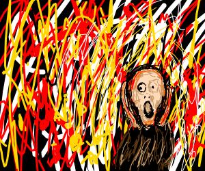 Scream at Jackson Pollock