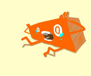 Orange rectangle broke their legs!