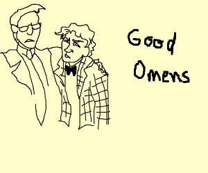 Good omens Crowley and aziraphale