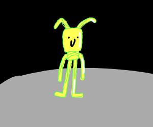 yellow aliens on the moon