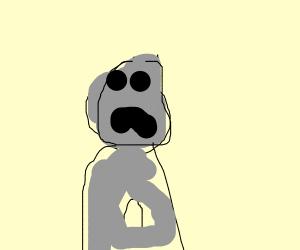 sad and hungry gray guy