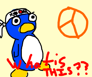 Penguin is stumped by peace