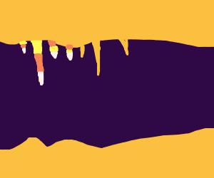 Candy corn stalactites