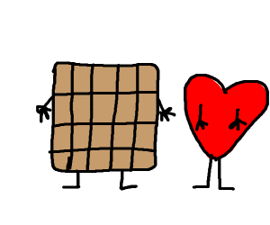 waffle with heart shape