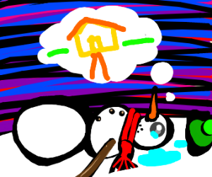 snowman kicked out of his familys snow fort