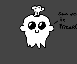 Ghost With chef hat wants to be friends