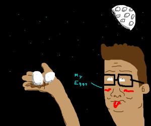 Hank Hill get's egged