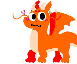 a really cute dragon