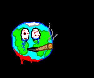 the earth smoking away the pain