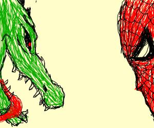 Lizard man & Spider-Man