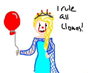 Elsa but she's a clown queen