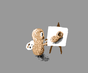 Peanut painting a better version of itself