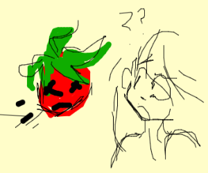Dead tomato thrown at woman