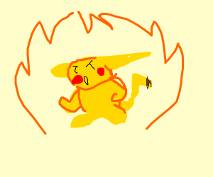 pikachu turns into super saiyan