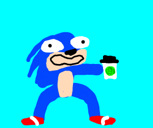 Sonic with too much coffee