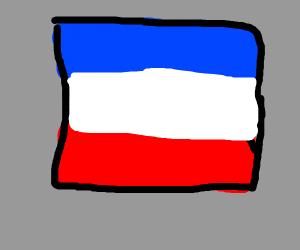 Flag of the netherlands upsidedown