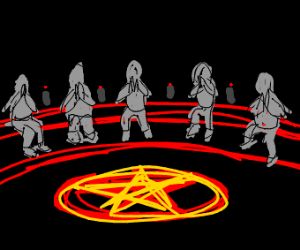 A satanic séance