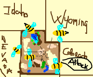 Utah is under attack by bees.