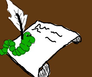 worm helps write a letter