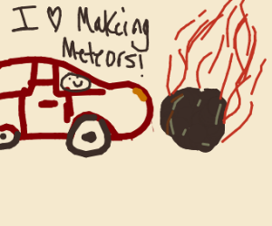 Car produces meteors