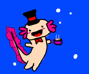 axolotl having a tea party