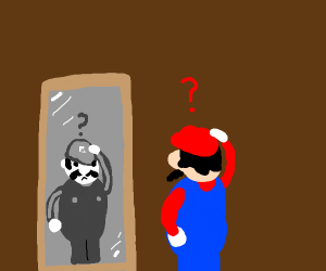 Mario doesn't know what color he wears