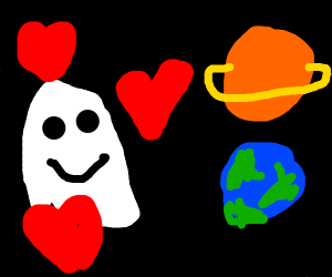 ghost with a crush on space